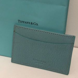 Tiffany blue business card wallet leather